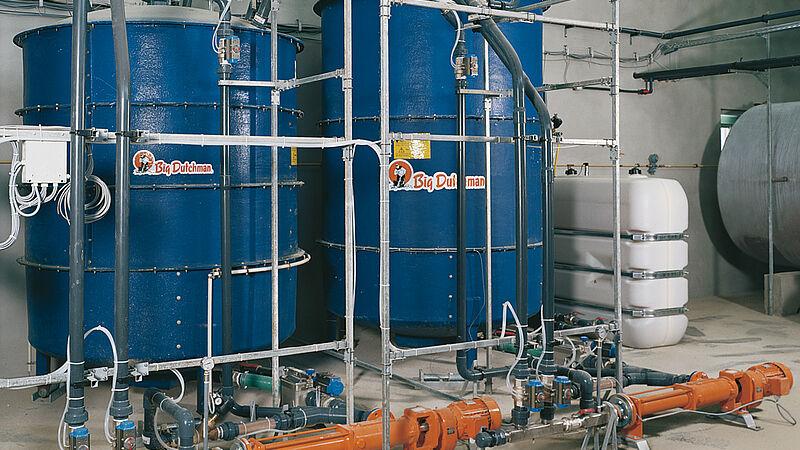 Svinefodringsanlæg: vådfodring med HydroMix