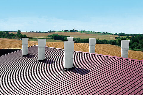 Exhaust air chimneys