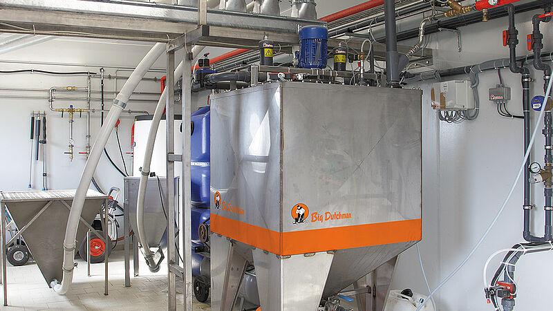 HydroAir vådfodringsanlæg til opdræt af smågrise og administration af søer