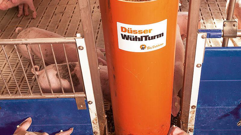 Rode-beskæftigelsesmateriale til opdræt af smågrise